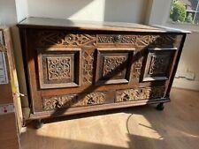 More details for antique henry viii 16th-century tudor oak coffer/wedding chest/blanket box
