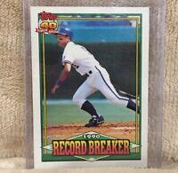 1991 George Brett Topps #2 Record Breaker Baseball Card Kansas City Royals MLB