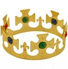 Novelty Majestic King or Queens Gold Plastic Crown Kid Childrens Dressing Up Toy
