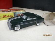 VINTAGE MINISTER DELUX TIN FRICTION CAR IN ORIG BOX WORKS GREEN PONTIAC JAPAN