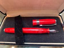 Levenger M Germany True Writer Red Flake Fountain Pen