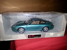 Diecast 1/18 model car by UT, Porsche 911 Carrera S in beautiful teal green