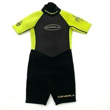 O'Neill Shorty Spring Wetsuit Black Yellow Shortie Spring Child's Youth Size 4