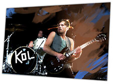 Kings Of Leon - hand painting signed by artist - Large