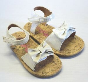 Girl Dress Sandals w/ bow (carat) TODDLER Gold Silver