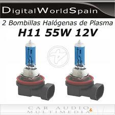 2 BOMBILLAS HALOGENAS DE PLASMA H11 55W 12V LUZ MUY BLANCA HOMOLOGADAS EN 24H