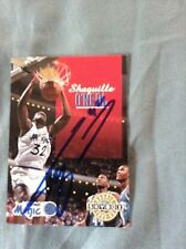 Shaquille O'Neal HAND SIGNED 1992 Skybox Rookie w/COA RARE Stock 004