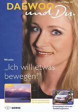 DAEWOO e tu 25 02 2002 Nicole canzonette cantante NUBIRA han Corea Alpi KALOS