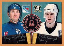 1998-99 , PACIFIC , OMEGA , GRETZKY-KARIYA , CARD #2 , FACE TO FACE