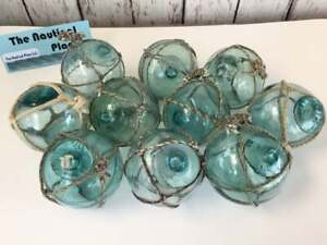 Japanese Glass Fishing Floats - Old Vintage Balls -Authentic Japan Fish Net Buoy