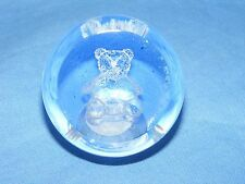 Caithness Glass Paperweight New Baby Boy Teddy Bear Christening Present Gift