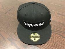 0afd5892cb2 Supreme Playboy Box Logo New Era Fitted Hat Cap SS17 Black Sz 7 3 8