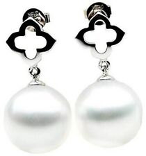 Pacific Pearls® 12mm White Australian South Sea Pearl Earrings Anniversary Gifts