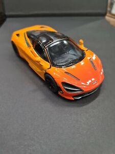 Mclaren 720S Orange Kinsmart Voiture Jouet Modèle 1/36 Scale Moulé Neuf Ouvert