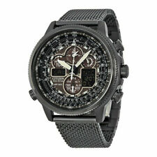 Citizen JY8037-50E Men's Navihawk A-T Black Ion Plated Perpetual Calendar Watch