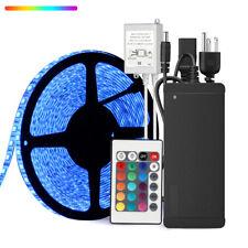 10M 600Leds RGB 5050 LED Strip Light Non-Waterproof+24V Power+24Keys IR Remote