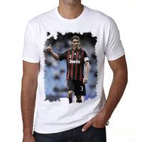 Paolo Maldini t shirt homme, Manches Courtes, Coton blanc cadeau