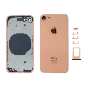 Chasis Tapa Bateria Iphone 8 Rosa Dorado Gold Carcasa + botones + portaSIM