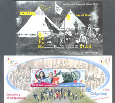 Isle of Man Scouts & Guides 2 m,in sheets mnh