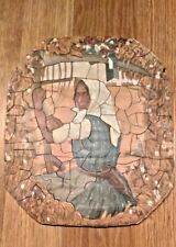 "VINTAGE 138-PIECE  WOODEN JIGSAW PUZZLE. ""PEASANT GIRL"""