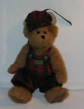 """Boyds Bearwear Edmund Hunting Outfit Jointed Plush Teddy Bear Toy Doll 9"""" Tall"""