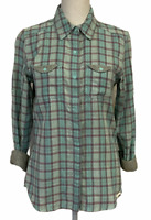 NWT THE NORTH FACE Cotton Plaid Lined Long Sleeeve Button Front Women's S