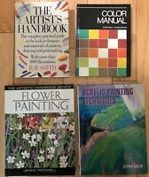 Art Instruction Acrylic Techniques Color Theory Reference Lot of 4 Books