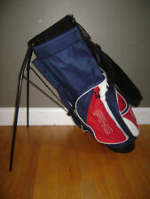 Vintage PING HOOFER KARSTEN Carry Stand Golf Bag Blue Red White Black VERY RARE