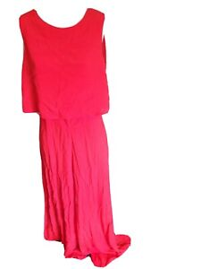 Red Mister Zimi charlie long jumpsuit size 10 party night out travel sleeveless