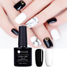 2Stk 7.5ml Nail Art Soak Off UV Gel Nagellack Schwarz Weiß Gellack DIY UR SUGAR