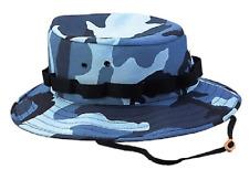 MS Propper Packable Fishing Bonnie Bucket Hat Cotton Camo-Blue Size 7   NWT