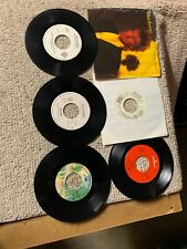 lot of 6-C. different Rod Stewart Rock Pop vinyl records 45