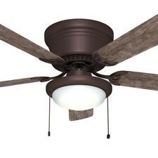 Hugger Ceiling Fan 52 in. LED Espresso Bronze Flush Mount Indoor Reversible