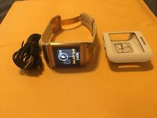 Samsung Galaxy Gear Watch SM-V700 White w/ Steel Frame & Buckle, Camera great
