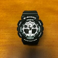 Casio G-Shock GA100bw-1A Black Quartz Analog Digital Men's Watch