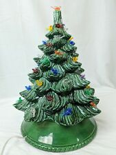 Vintage Ceramic Christmas Tree with ALL dove birds in place- Light works!
