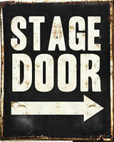 Stage Door - VINTAGE ADVERTISING ENAMEL METAL TIN SIGN WALL PLAQUE