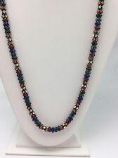 "Betsey Johnson ""Confetti"" Multi-Colored Faceted Stone Hematite Strand Long B-108"