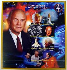 1998 PALAU SPACE STAMPS SHEET JOHN GLENN'S RETURN TO SPACE DISCOVERY SPACE SHIP