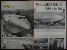 Howard Hughes Hercules Plane Spruce Goose 1946 article