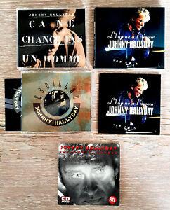 JOHNNY HALLYDAY LOT 5 CD MAXI/SINGLE dont 2 PROMOS voir liste