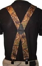 "Image Camo Leaf Scooter Rock Goth Trades Mens Heavy Duty 2"" Wide Braces"