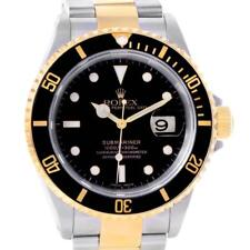Rolex Submariner Two Tone Steel Yellow Gold Mens Watch 16613