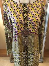 Hale Bob Pattern Shift Dress Size M