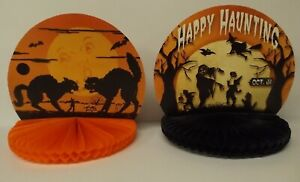Bethany Lowe Halloween Set of 2 Different Honeycomb Centerpiece Rosettes RL5773