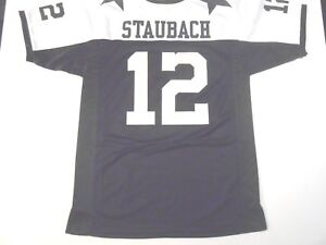 UNSIGNED CUSTOM Sewn Stitched Roger Staubach Thanksgiving Jersey - M L XL 2XL 3X