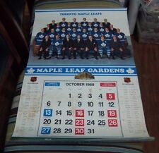 "Export ""A"" Toronto Maple Leaf Gardens 1968-1969  Calendar NHL Hockey Complete"
