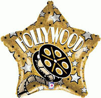 """Hollywood Movie Prom Night Party Decoration 18"""" Star Shaped Foil Balloon"""