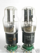 2 matched RCA/Tung-Sol 5V4G rectifier tubes - Black Plates, Bottom [] Getter