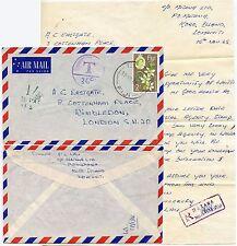 FIJI MATANA REGISTERED HS SPECIMEN TONY EASTGATE 1965 P LAU SIGNED +POSTAGE DUE